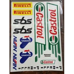 KIT adesivi CASTROL 4R 24X34 cm.