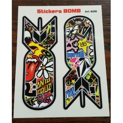 Stickers 4R BOMB 12x9cm.