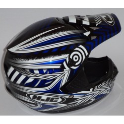 Casco off road HJC CS MX Charge blu MC-2