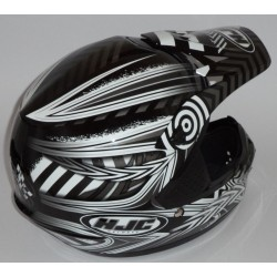 Casco da motocross HJC CS MX Charge MC-5 colore nero