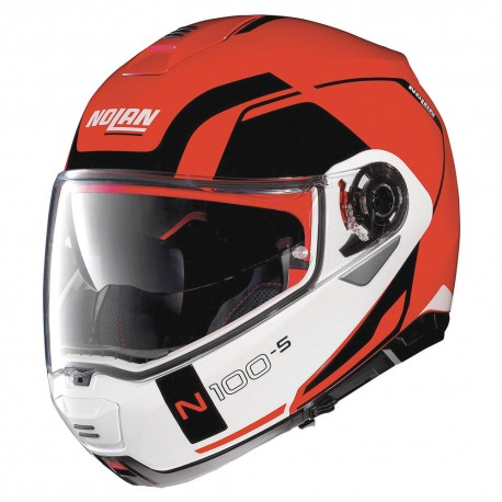 Casco integrale apribile Nolan N100.5 Consistency N-com Corsa Red
