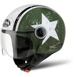 Casco Airoh jet Compact Pro Shield Green Matt CPPSH70