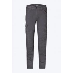 PMJ pantalone tipo cargo da moto con protezioni modello SANTIAGO colore grigio