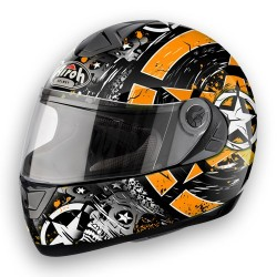 Casco integrale da scooter AIROH ASTER-X SKULL ORANGE