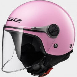 CASCO jet LS2 WUBY SOLID PINK OF 575 BAMBINA