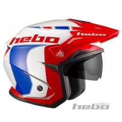 Casco moto trial HEBO ZONE 5 LIKE blu
