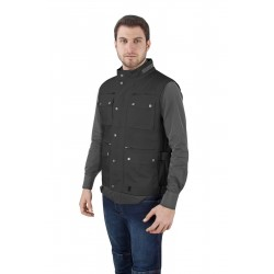 GILET multitasche in cotone  BREZZA OJ BLACK