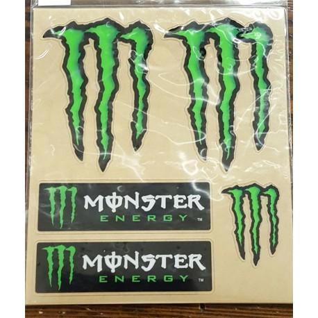 Kit adesivi Monster Energy 4R 13x16cm.