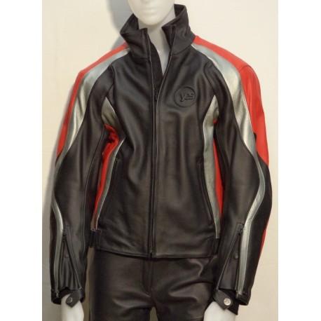 online store 77a67 e6b05 Giubbotto in pelle da moto YES Waikato nero/antracite/rosso - Il Centauro  sas
