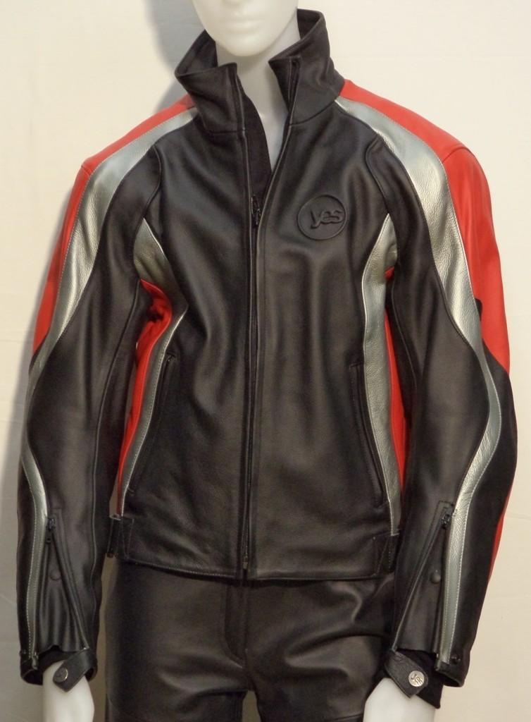 online store 98ede eb399 Giubbotto in pelle da moto YES Waikato nero/antracite/rosso - Il Centauro  sas