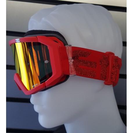 8418f7b7d0 Maschera motocross DIRT di ETHEN MX05 red  red lurex - Il Centauro sas