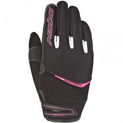 IXON guanti estivi RS SLICK LADY nero/bianco/fucsia