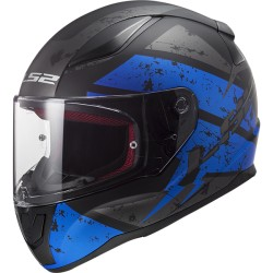 LS2 casco integrale RAPID FF353 DEADBOLT matt black blue