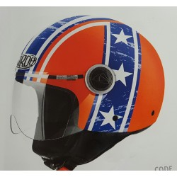 Casco jet AIROH Compact Pro HAZZARD orange