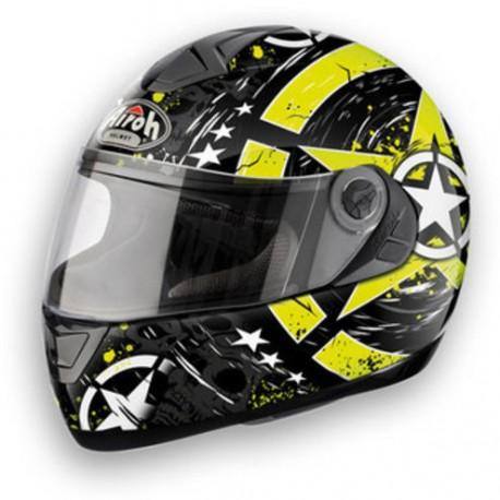 CASCO AIROH ASTER-X SKULL Yellow
