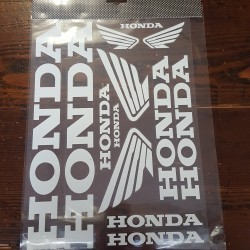 kit adesivi sponsor tecnici da moto HONDA bianco