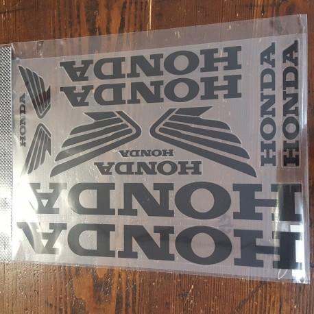 Kit adesivi marchio HONDA colore nero