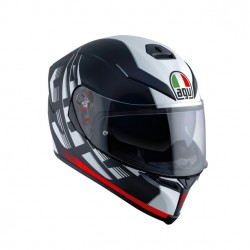AGV K5 S MULTI DARKSTORM MATT BLACK/RED