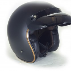 Casco jet custom LS2 BOBBER Matt-Black