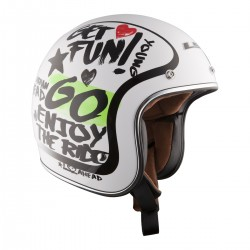Casco jet LS2 OF583 ENJOY White