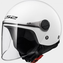 CASCO jet LS2 WUBY SOLID BIANCO OF 575 JUNIOR