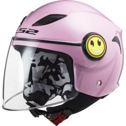 LS2 casco jet bambino Funny rosa