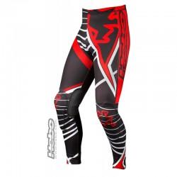 Pantaloni da moto trial HEBO RACE PRO Trial Pants nero rosso