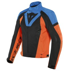 DAINESE  LEVANTE AIR TEX JACKET Black/Light-Blue/Flame-Orange