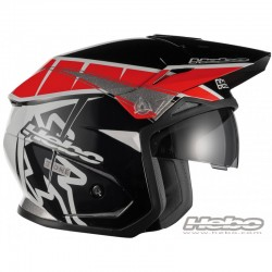 Casco moto trial e moto alpinismo HEBO ZONE 5 T-ONE rosso