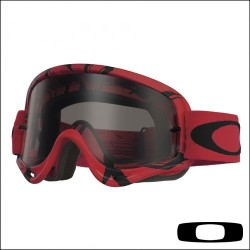 Maschera motocross enduro Oakley O Frame Intimidator Red Black Lente Dark Grey