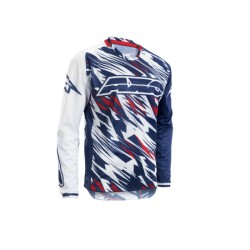 AXO maglia cross enduro GRUNGE JERSEY bianca/blu