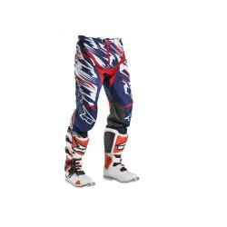 Pantalone motocross enduro GRUNGE PANT AXO bianco/blu