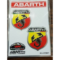 Adesivo 4R Fan Stickers ABARTH Official Licensee 9x13cm.