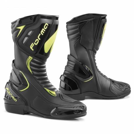 Stivali racing di FORMA modello FRECCIA nero/giallo fluo
